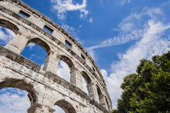 Ancient Roman amphitheater, the Colosseum. Royalty Free Stock Photography