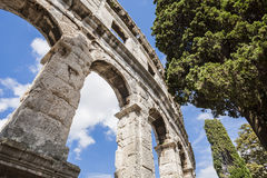 Ancient Roman amphitheater, the Colosseum. Stock Images