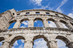 Ancient Roman amphitheater, the Colosseum. Royalty Free Stock Image