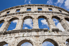 Ancient Roman amphitheater, the Colosseum. Stock Photo