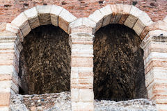 Ancient Roman Amphitheater on Piazza Bra in Verona Stock Photo