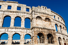 Ancient Roman Amphitheater in Pula Stock Photo