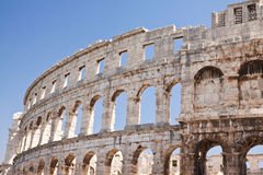 Ancient Roman Amphitheater in Pula. Croatia Royalty Free Stock Photo
