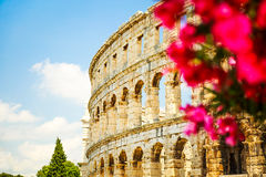Ancient Roman Amphitheater in Pula, Croatia Stock Image