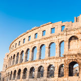 Ancient Roman Amphitheater; Pula, Croatia Stock Photos
