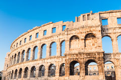 Ancient Roman Amphitheater; Pula, Croatia Royalty Free Stock Photo