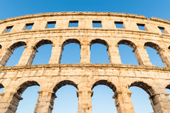 Ancient Roman Amphitheater; Pula, Croatia Stock Image