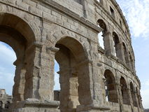 Ancient Roman amphitheater in Pula, Croatia. The ancient Roman amphitheater in Pula, Croatia, wall fragment Royalty Free Stock Photography