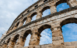 Ancient Roman Amphitheater in Pula. Croatia Stock Images