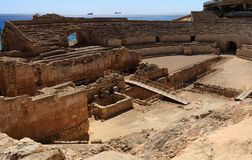 Ancient roman amphitheater in Tarragona Stock Image