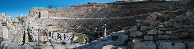Ancient roman amphitheatre Stock Photography