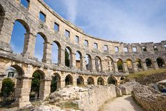 Ancient Roman Amphitheatre Royalty Free Stock Photos