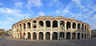 Ancient roman amphitheatre Arena in Verona. Italy. Most famous open air theater in the world Royalty Free Stock Photography