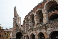 Ancient roman amphitheatre Arena in Verona, Italy Stock Images