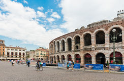 Ancient roman amphitheatre Arena in Verona, Italy Royalty Free Stock Image