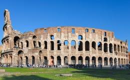 Ancient roman amphitheatre Colosseum in Rome Stock Images