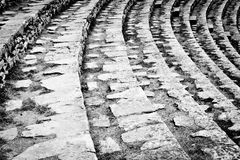 Ancient Roman Amphitheatre rows Stock Images