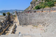 The ancient Roman amphitheatre in Turkey Royalty Free Stock Photo