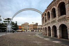 Ancient roman amphitheatre, Verona, Italy Royalty Free Stock Photography