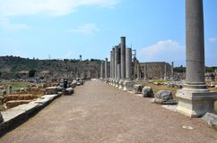 ancient roman antalya turkey, king roads Stock Photo