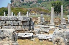 ancient roman antalya turkey, silyon, city life Stock Photos