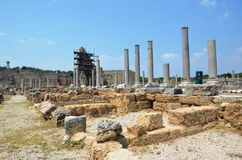ancient roman antalya turkey, silyon, city life Royalty Free Stock Photo