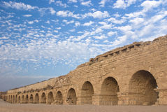 Ancient roman aquaduct Stock Images