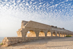 Ancient roman aquaduct Stock Images