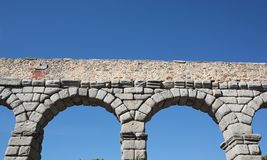 Ancient Roman aqueduct Stock Photo