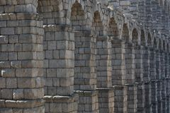 Ancient Roman aqueduct Stock Photography