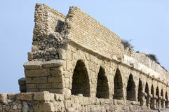 Ancient Roman aqueduct Stock Image