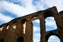 Ancient Roman aqueduct Stock Images