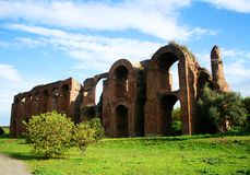 Ancient Roman aqueduct Royalty Free Stock Image