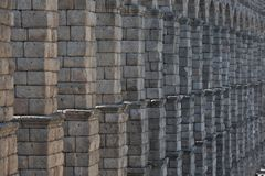 Ancient Roman aqueduct Royalty Free Stock Images