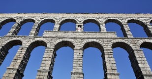 Ancient Roman aqueduct Stock Photography