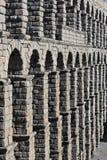 Ancient Roman aqueduct bridge of Segovia. Castilla Leon, Spain royalty free stock photos