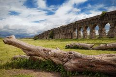 Ancient Roman Aqueduct Royalty Free Stock Photos