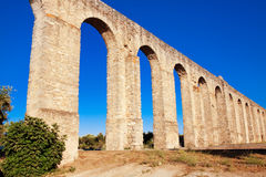 Ancient Roman aqueduct in Evora, Portugal. Royalty Free Stock Photography