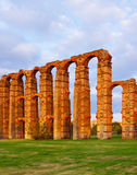 Ancient  roman aqueduct. Merida, Spain Royalty Free Stock Photos
