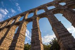 Ancient roman aqueduct in Segovia, Castilla y Leon, Spain Royalty Free Stock Photo