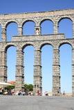 Ancient roman aqueduct Stock Photos