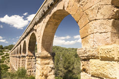 Ancient Roman Aqueduct in Spain, Europe Royalty Free Stock Photography