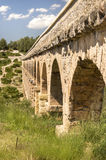 Ancient Roman Aqueduct in Spain, Europe Stock Image