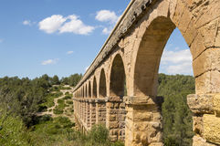 Ancient Roman Aqueduct in Spain, Europe Stock Images