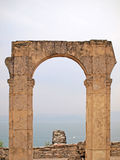 Ancient Roman arch Stock Photo