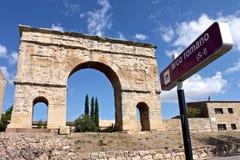 Roman arch gate, Medinaceli, Spain Stock Photo