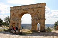 Roman arch gate, Medinaceli, Spain Royalty Free Stock Photography