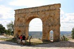 Roman arch gate, Medinaceli, Spain Stock Image