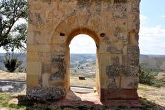 Roman arch gate, Medinaceli, Spain Stock Images