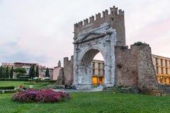 Ancient roman arch Rimini, Emilia Romagna, Italy Royalty Free Stock Photos